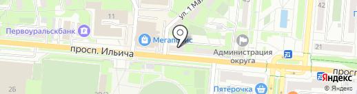 АЛМАЗ на карте Первоуральска