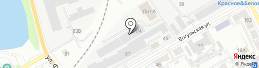 Автогаззапчасть на карте Нижнего Тагила