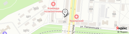 Лайм на карте Первоуральска