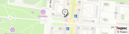 Чемодан на карте Первоуральска