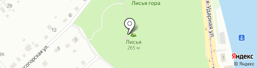 Лисьегорская башня на карте Нижнего Тагила