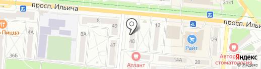 Гулливер на карте Первоуральска