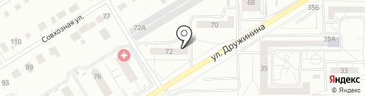 Дружининское, ТСЖ на карте Нижнего Тагила