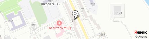 Косой переулок на карте Нижнего Тагила
