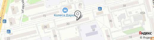 Академия Строительства на карте Нижнего Тагила