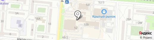 Киоск по продаже фастфудной продукции на карте Первоуральска