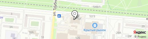 Мастерская по ремонту обуви на ул. Трубников на карте Первоуральска