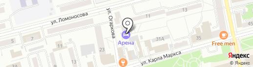 Арена на карте Нижнего Тагила