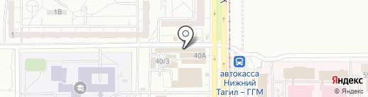 Магазин сантехники на карте Нижнего Тагила