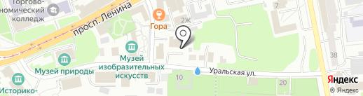 НТ ФОРС на карте Нижнего Тагила