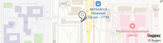 Каталог-НТ на карте Нижнего Тагила