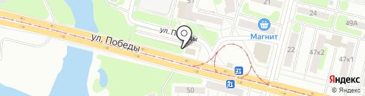 Автостоянка на карте Нижнего Тагила