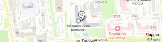 Свердловский областной медицинский колледж на карте Нижнего Тагила