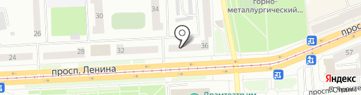 Московский Технологический Институт на карте Нижнего Тагила