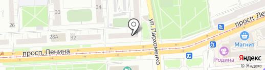Золотой Векъ, КПК на карте Нижнего Тагила