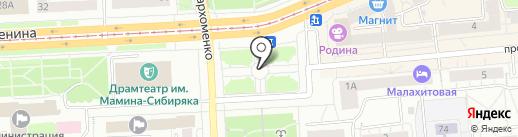 ЕВРАЗ-НТМК на карте Нижнего Тагила