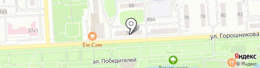 Строй-КОМ на карте Нижнего Тагила