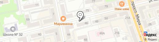 Блиновье на карте Нижнего Тагила