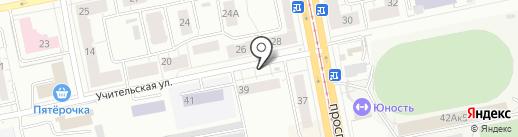 Киоск по ремонту часов на карте Нижнего Тагила