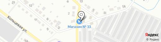 Продуктовый магазин на Западной на карте Первоуральска