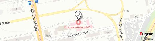 Городская поликлиника №4 на карте Нижнего Тагила
