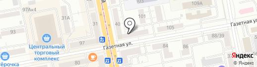 Скиф на карте Нижнего Тагила