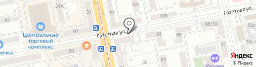 Данила-Мастер на карте Нижнего Тагила
