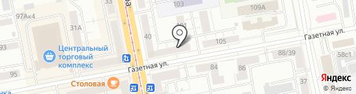 Сервисный центр по ремонту швейных машин на карте Нижнего Тагила
