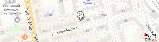 LOFT на карте Нижнего Тагила