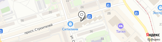 Росгосстрах банк, ПАО на карте Нижнего Тагила