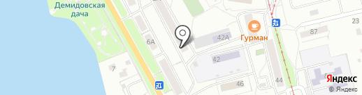 Служба доставки товаров из IKEA на карте Нижнего Тагила