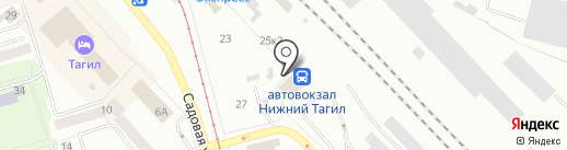 Нижнетагильский автовокзал на карте Нижнего Тагила
