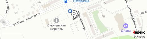 Автостоянка на карте Первоуральска