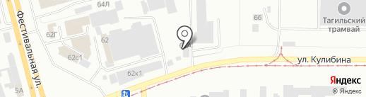 Тагилдорстрой, МУП на карте Нижнего Тагила