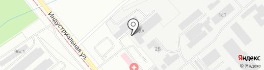Проектстальконструкция, ЗАО на карте Нижнего Тагила