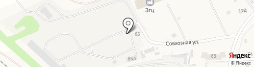 Уральский деревообрабатывающий завод на карте Николо-Павловского