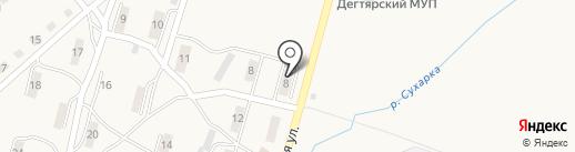 Магазин продуктов на карте Дегтярска