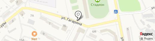 Киоск по продаже фастфудной продукции на карте Дегтярска