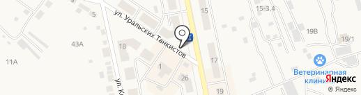 Продуктовый павильон на карте Дегтярска