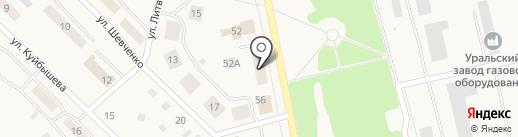 Магазин швейной фурнитуры на карте Дегтярска