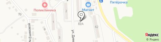 Киоск по продаже хлебобулочных изделий на карте Дегтярска