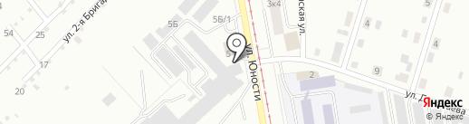 Магазин метизов на карте Нижнего Тагила