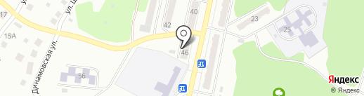 Магазин продуктов на карте Миасса