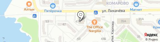 Акватория на карте Миасса