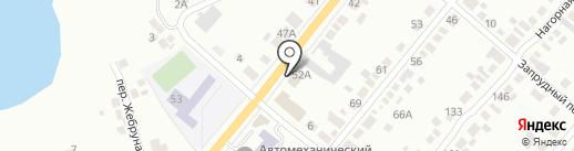 Магазин автотоваров на карте Миасса