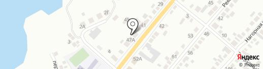Тополя на карте Миасса