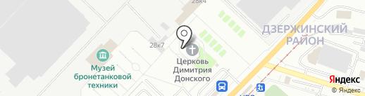 Храм-памятник во имя Святого Благоверного Великого князя Димитрия Донского на карте Нижнего Тагила