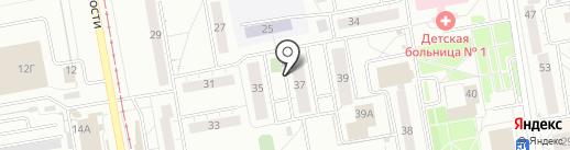 Адвокатская контора №1 на карте Нижнего Тагила