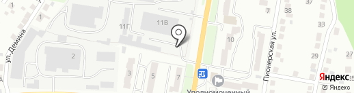 Автостоянка на ул. 60 лет октября на карте Миасса