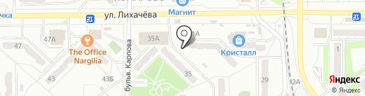 Банька на карте Миасса